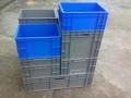 供应塑料周转箱 折叠箱 加盖物流箱 斜插箱