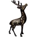 铜雕鹿雕塑-铜雕鹿生产-铜雕鹿厂家