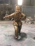 广州景观人物玻璃钢仿铜雕塑生产厂家