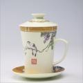 陶瓷茶杯、会议陶瓷茶杯定做 专业定制logo加字