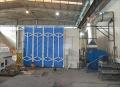 湖北武汉钢结构厂移动伸缩喷漆房生产厂家直销