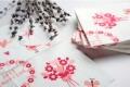 成都爱煜芳菲定制婚庆彩色印花餐巾纸创意彩色烫金纸巾