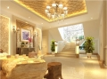 内江别墅软装设计中水晶灯的作用水木源创