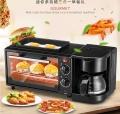 多功能家用早餐机三合一咖啡机烤面包机