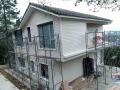 吉林PVC外墙挂板仿木纹扣板别墅钢结构房屋外墙板