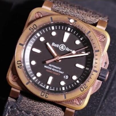 Bell & Ross限量发行方正潜水表 质感青铜徜徉深海
