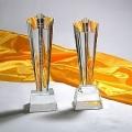 年终表彰奖杯订购 西安水晶奖杯优秀员工颁奖纪念品