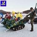 使孩子们玩性大发金耀坦克车 冰雪游乐坦克车 雪地
