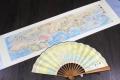 送陕西特色纪念礼品 一带一路丝绸扇画3米卷轴礼盒