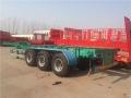 8米半挂后翻自卸车淮安-勾机平板拖车销售