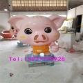 佛山玻璃钢金猪雕塑 商场美陈造型新年气象玻璃钢猪雕