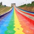 彩虹滑道绘画美妙音符 七彩滑道 景区游乐常青树