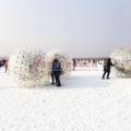 厂家供应趣味运动会道具雪地悠波球冬季户外游乐玩具