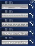 西安石膏线条厂家批发,定做欧式西安石膏线-西安福上