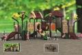 供应小型木制滑梯 小区儿童滑梯 儿童室外娱乐设施定