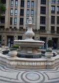 室外石雕水钵 别墅喷泉水景 大型喷泉雕塑厂家