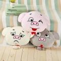 厂家直销卡通脸猪表情抱枕空调毯三合一毛绒玩具定制