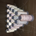 双面高亮度反光丝 毛纺织带反光丝 厂家供应