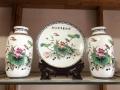新品现代简约白色陶瓷花瓶三件套创意北欧摆件电视柜酒