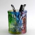 大展宏图琉璃笔筒摆件,琉璃笔筒商务礼品