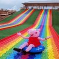 彩虹滑道的七种色彩如诗如画