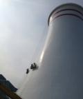 煤矿井架钢结构除锈刷油漆