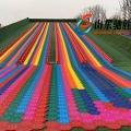山东驰胜彩虹滑道七彩滑梯景区网红旱地滑雪滑草项目