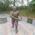 仿铜人物雕塑城市校园步行街人物圆雕佛山玻璃钢雕塑厂