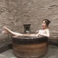 陶瓷泡澡缸一米二日式温泉洗浴中心用的浴池大缸圆形