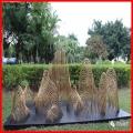 不锈钢雕塑 公园绿地抽象圆管雕塑 供应中式抽象不锈