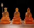 广东新丰县竹林古寺琉璃地藏佛像释迦摩尼佛细节图