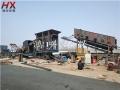 直销可移动式砂石破碎站 小型加工鹅卵石制沙设备
