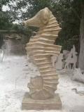 花岗岩吐水海马石雕广场景观动物流水摆件