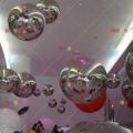 充气炫彩镜面球幻彩反光球商场吊挂装饰舞台舞美道具球