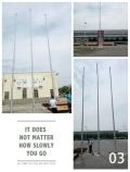 西安旗杆生产厂家发货不锈钢锥形旗杆交期快