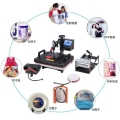 全套杯子衣服抱枕盘子上印刷彩色照片的机器热转印机厂