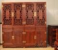 红木书柜家具老挝老料制作