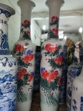厂家定制山水花瓶家用大花瓶摆件开业手绘大花瓶礼品定