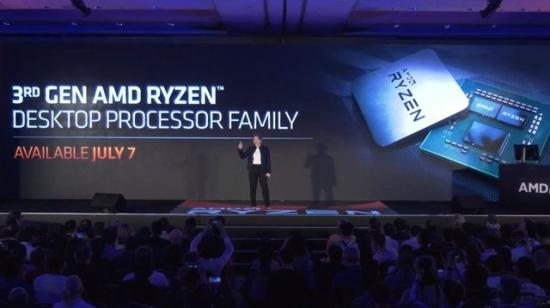 AMD发布全球首款12核心处理器Ryzen 9 3900X