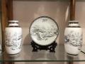 黑白简约家居客厅陶艺三件套花瓶中式陶瓷卧室房间酒柜