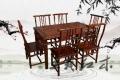 竹节红木餐桌家具造型美观