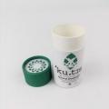 圆形纸罐定制_绿色纸管包装设计_河北健通